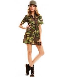 Disfraz de Soldado Camuflaje Mujer