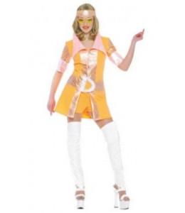 Disfraz de Disco Chica 80 Naranja
