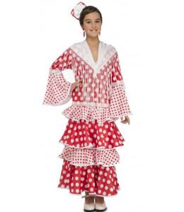 Disfraz de Flamenca del Rocio Roja Infantil