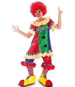 Disfraz de Payasina Multicolor Infantil