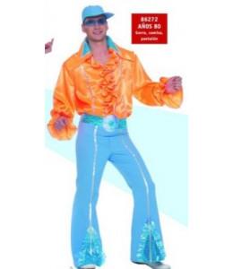 Disfraz de Disco Naranja Años 80