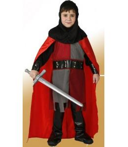 Disfraz de Caballero Medieval Rojo Infantil