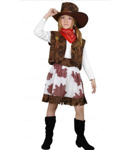Disfraz de Vaquera Vaca Infantil