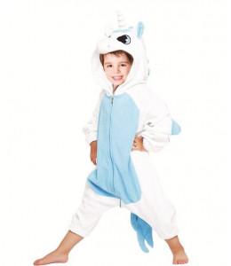 Disfraz de Unicornio Peluche Azul Infantil