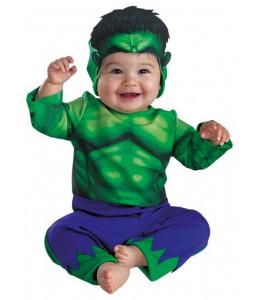 Disfraz de Super heroe Verde Bebe