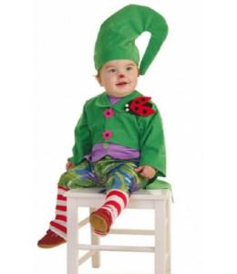 Disfraz de Duende Verde Bebe