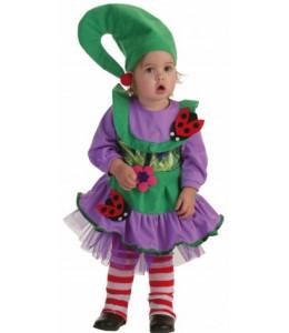 Disfraz de Duendecilla Verde Bebe