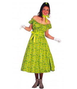 Disfraz de Mujer Años 60 verde