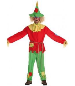 Disfraz de Espantapajaros Rojo Hombre