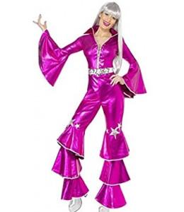 Disfraz de Disco Mujer Años 70 Fucsia