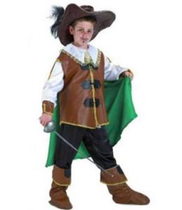 Disfraz de Mosquetero Verde Infantil