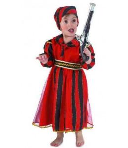 Disfraz de Bucanera Roja Bebe