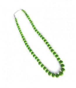 Collar Bolas Grande Verde
