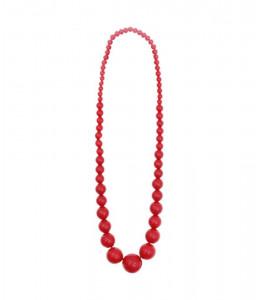Collar Bolas Grande Rojo