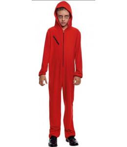 Disfraz de BUzo Atracador Rojo Infantil