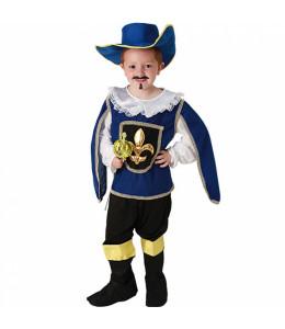 Disfraz de Mosquetero Azul Infantil