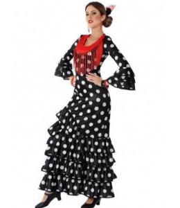 Disfraz de Sevillana Negra con Lunar Blanco