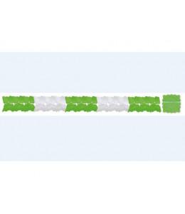 Guirnalda Verde y Blanca de Papel 3m
