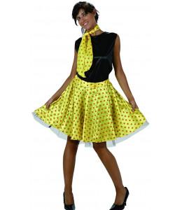 Disfraz de Chica Años 50 Amarillo