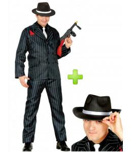 Disfraz de Gangster con sombrero