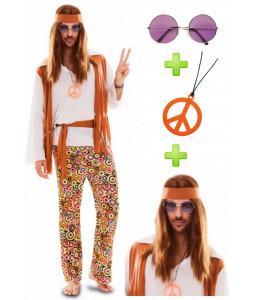 Disfraz de Hippie Chico con set