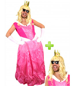 Disfraz de Princesa Rosa Hombre