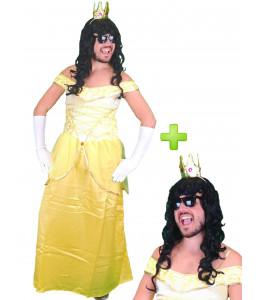 Disfraz de Princesa Hombre Amarilla
