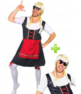 Disfraz de Tirolesa Negra para Hombre