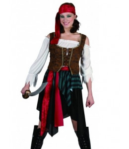 Disfraz de Piratesa Marron
