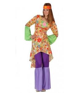 Disfraz de hippie flower largo