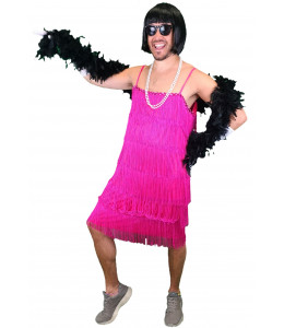 Disfraz de Charleston Hombre Rosa
