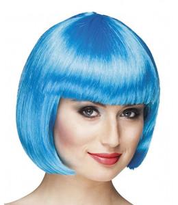 Peluca Cabaret Azul Turquesa