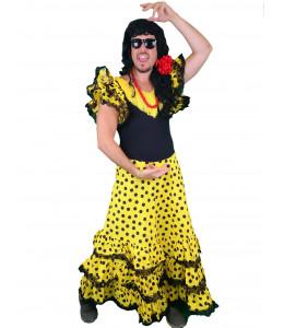 Disfraz de Sevillana Hombre Amarilla
