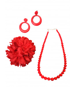 Set de Complementos Sevillana Rojo