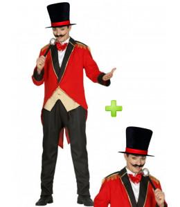 Disfraz de Presentador de circo con chistera