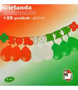 Guirnalda con globos Zorionak