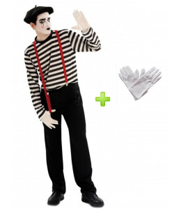 Disfraz de Mimo con guantes