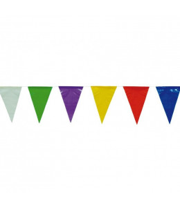 Banderines Plastico Colores 10m