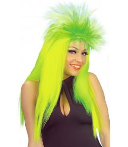 Peluca Punky Neon Amarillo-Verde