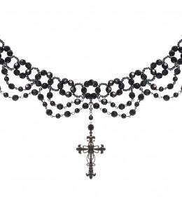 Collar Cruz Negro