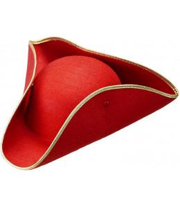 Sombrero Almirante Rojo Detalle Dorado