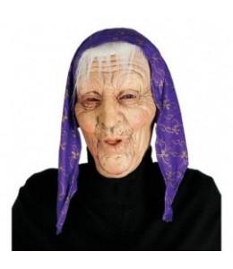 Mascara abuela con Paañuelo Morado