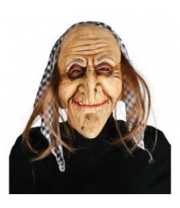Mascara abuela pañuelo cuadros