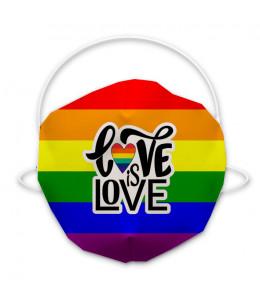 Mascarilla higienica arcoiris Love