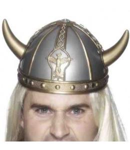 Casco Vikingo Plata
