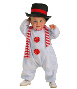 Disfraz de Muñeco Nieve Bebe