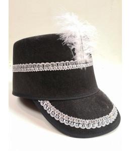 Sombrero Majorette Negro