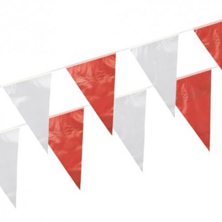 Tira de Banderines Rojo y Blanco