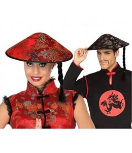 Sombrero Chino Con Trenza