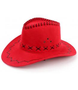 Sombrero Vaquero Rojo Tejano Inf.
